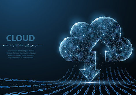 cloud computer service illustration